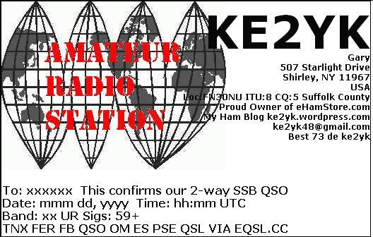 ke2yk's eQSL