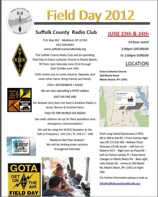 SCRC Field Day 2012