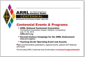 The ARRL 2014 Centennial