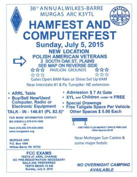 36th Annual Wilkes-Barre Hamfest, Sunday July 5th,