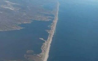Aerial View of Fire Island New York
